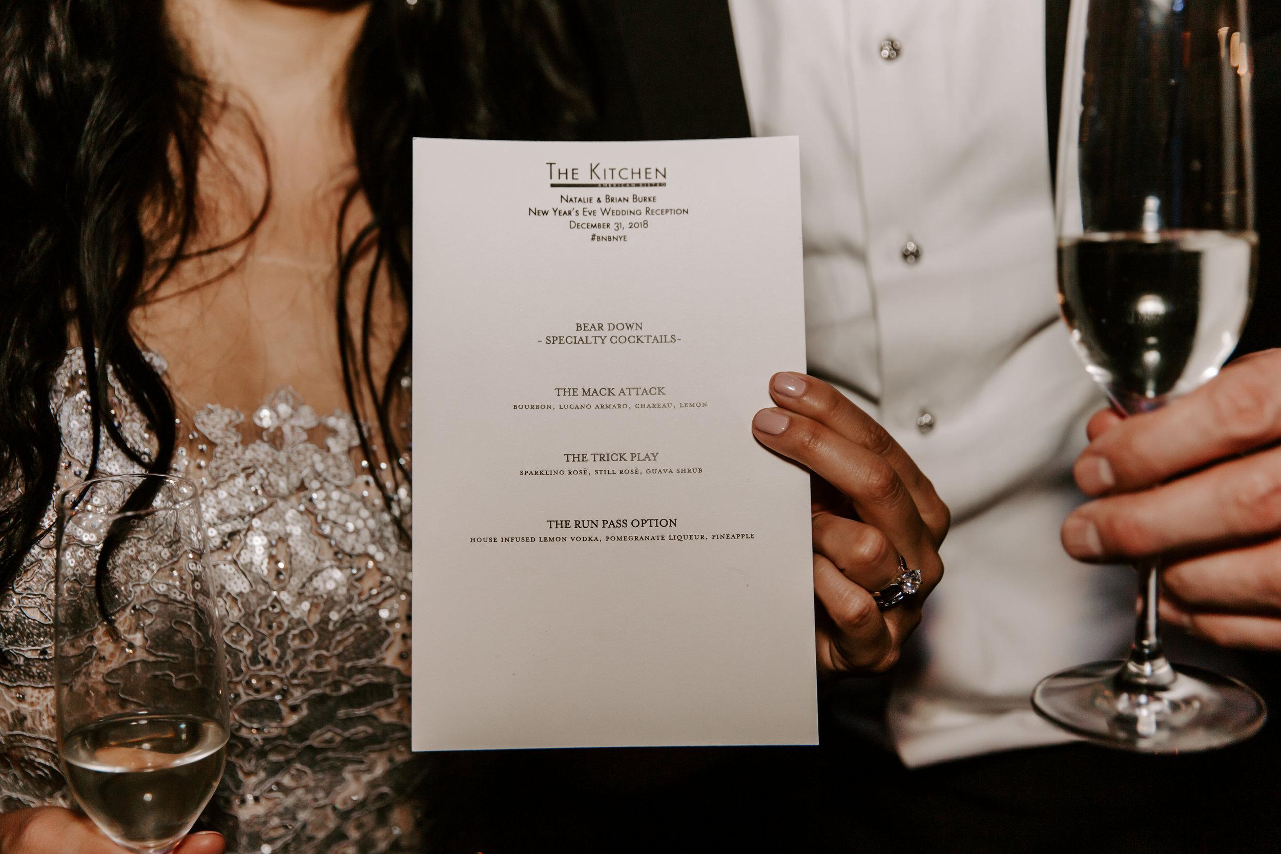 BRIAN + NATALIE - NYE Wedding reception at The Kitchen - Chicago, IL