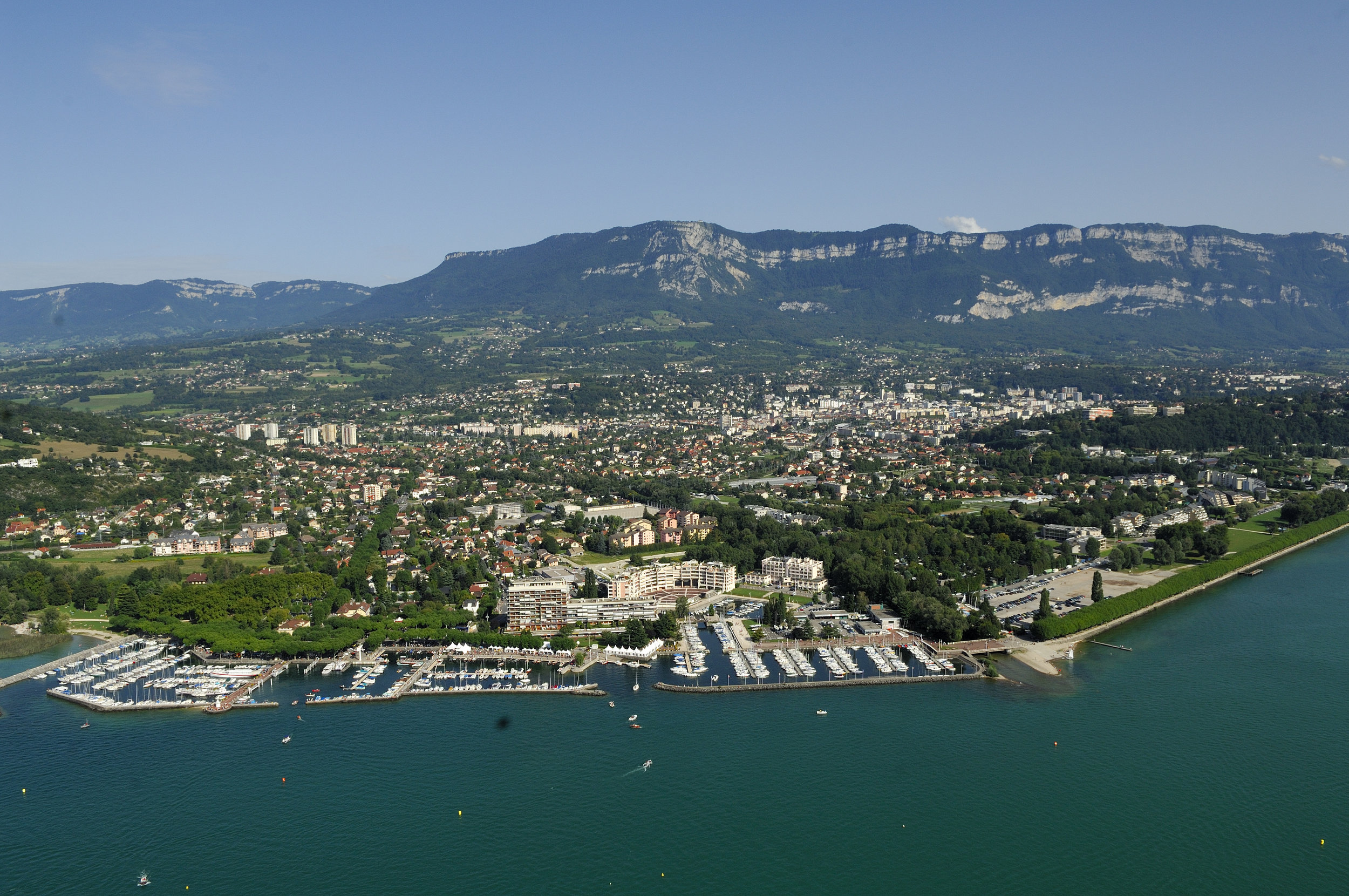 View of Aix-les-Bains and Mont Revard  Photo credit:   Gilles Lansard