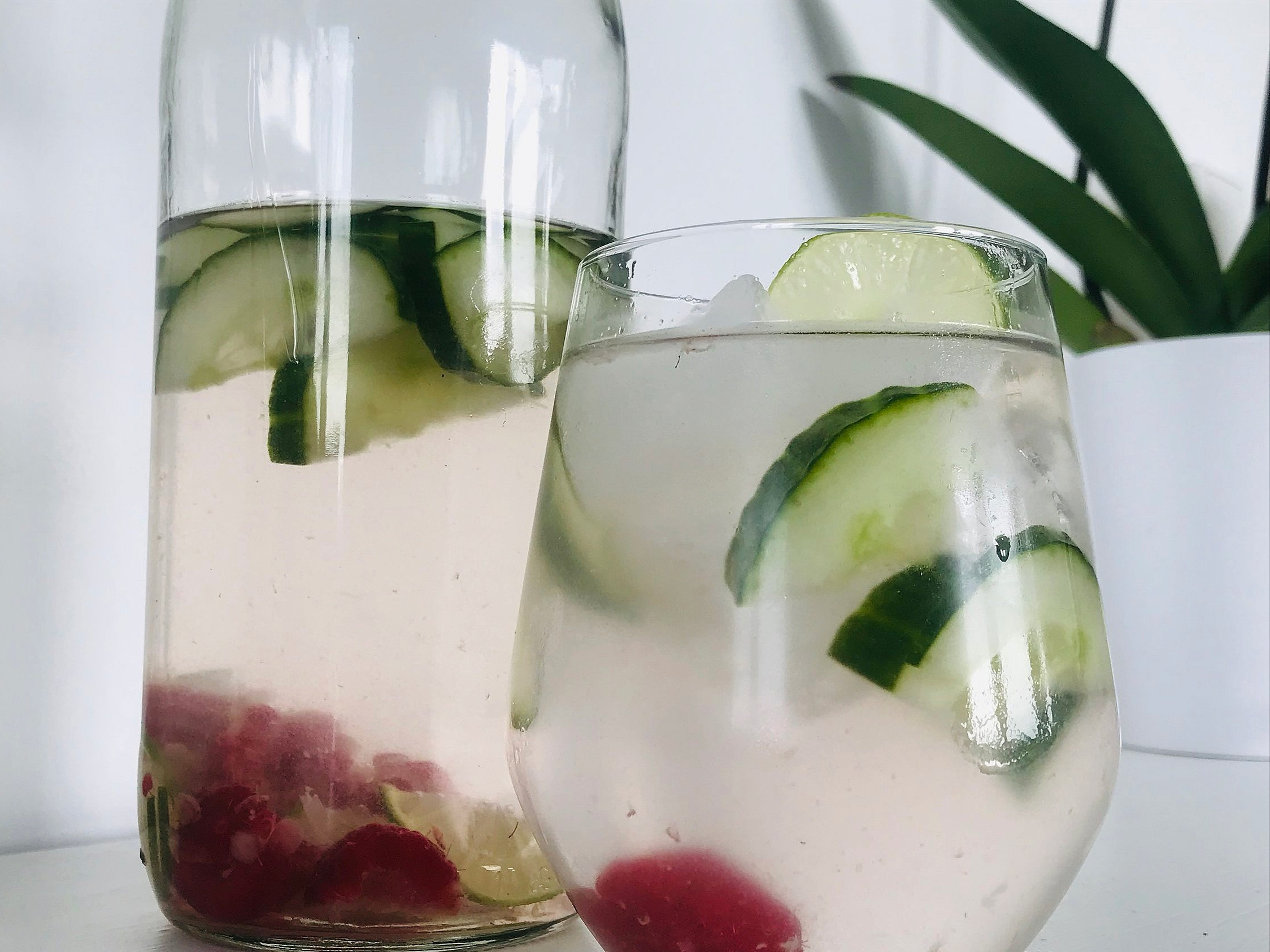 """EXTRA tips - If drinking water sometimes feels like hard work, check out these fun tips to help make it easier!• Add a squeeze of lemon or lime – sometimes just one drop of acidity can make water taste that much better and can assist in alkalinity (be mindful of your tooth enamel (use a steel or glass straw if adding citrus).• Bring the spa home with you! Add some cucumber, melon, or even berries into your water – mix it up to keep every sip interesting!• Invest in a reusable water bottle to keep with you. Make it a goal to fill it up multiple times each day.Drink a full glass of water first thing in the morning to stimulate digestion and rehydrate from the night.Don't wait until you feel thirsty to drink water; thirst is a sign of dehydration.If your a soda drinker, rather that water, to meet your hydration needs, you may prefer to opt for water with fresh fruit (lemons, limes, berries etc) rather than sugar-sweetened beverages! (*even the """"sugar free"""" still come with health risks)"""
