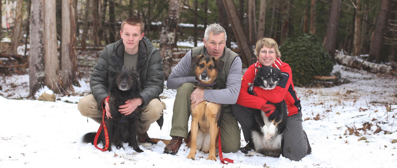 Real estate agent Bonnie Boisvert with her family on the quiet side of Mount Desert Island, Maine.