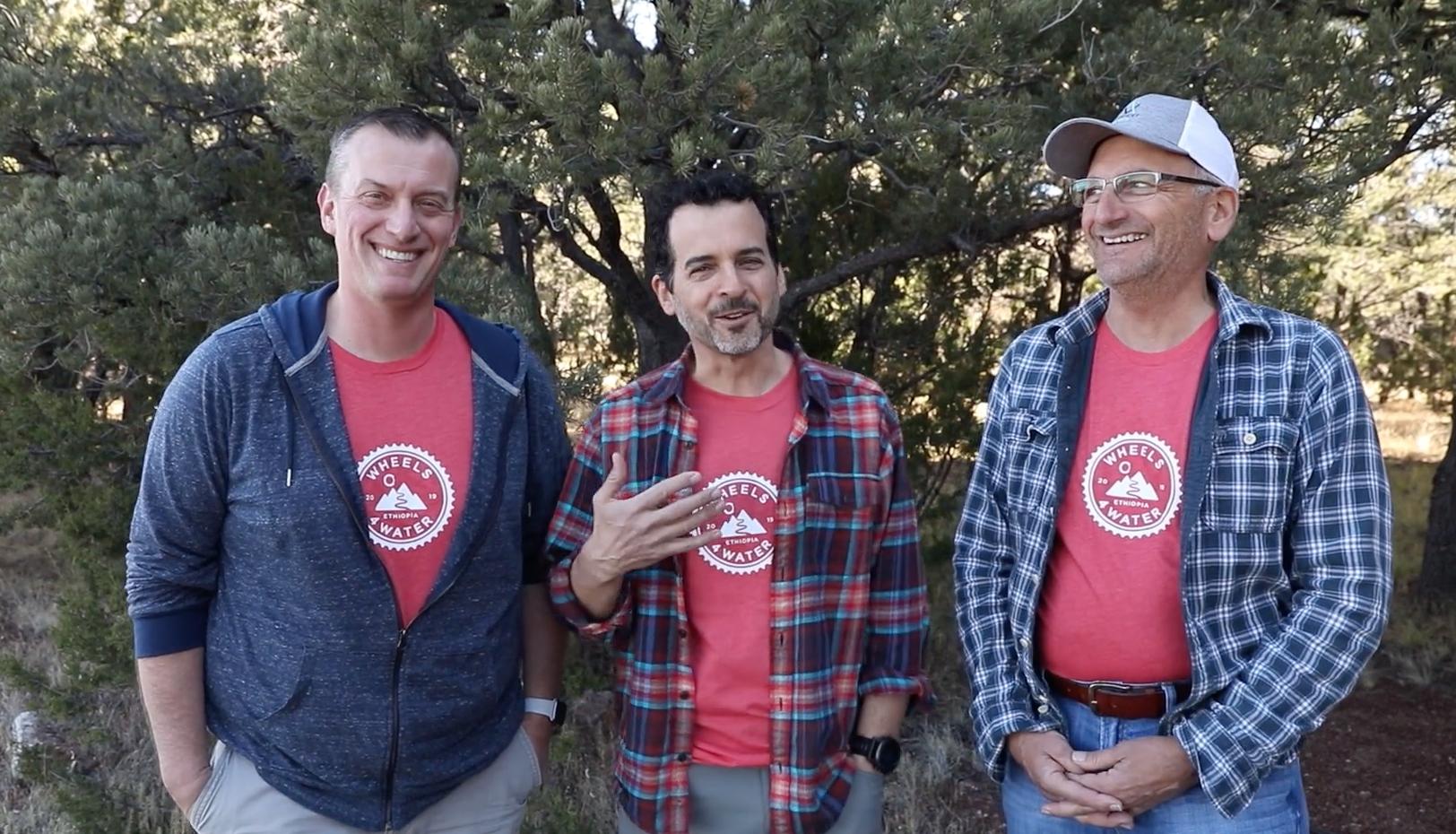 Justin Ahrens, Brian MacDonald and Tony Narducci announce 2019 Wheels4Water.