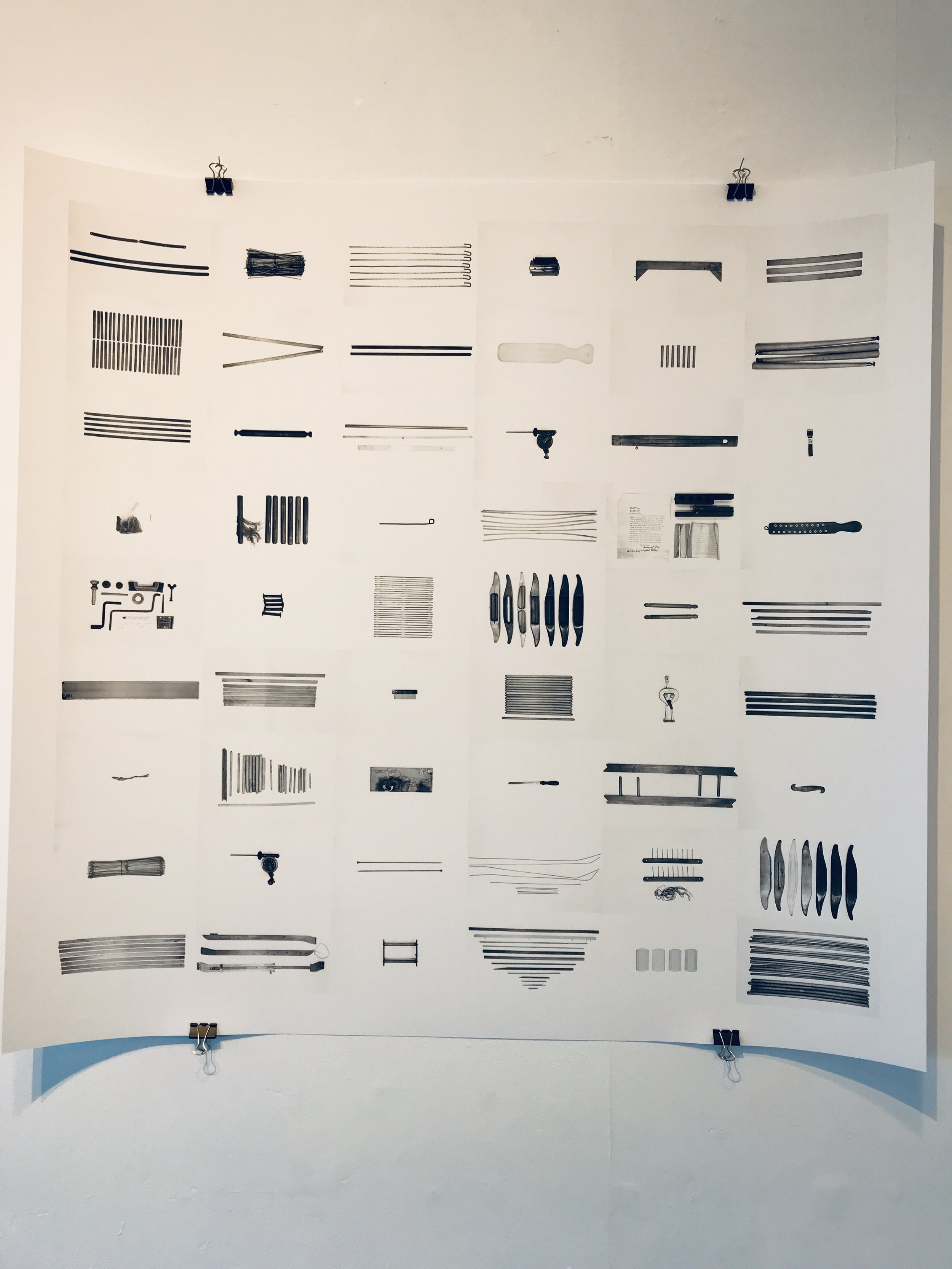 Print of various objects from the Albers studio