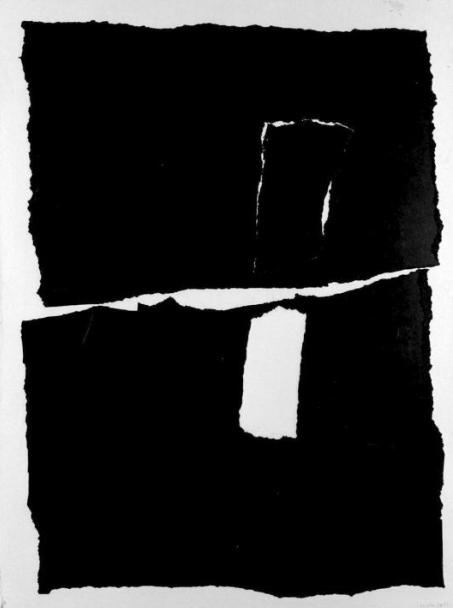 Pietra; Pierre 1964 Paper Collage on hardboard