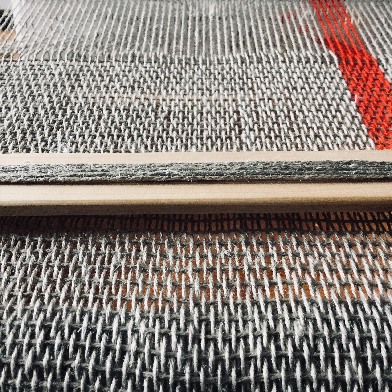 Hand woven linen yarn