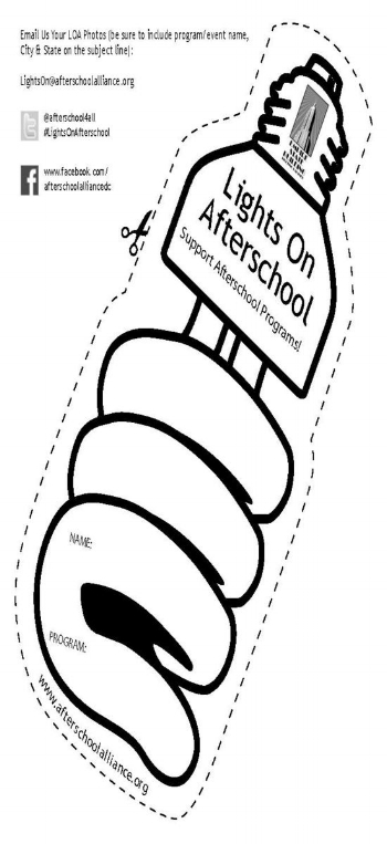 Color a lightbulb to support Lights on Afterschool!