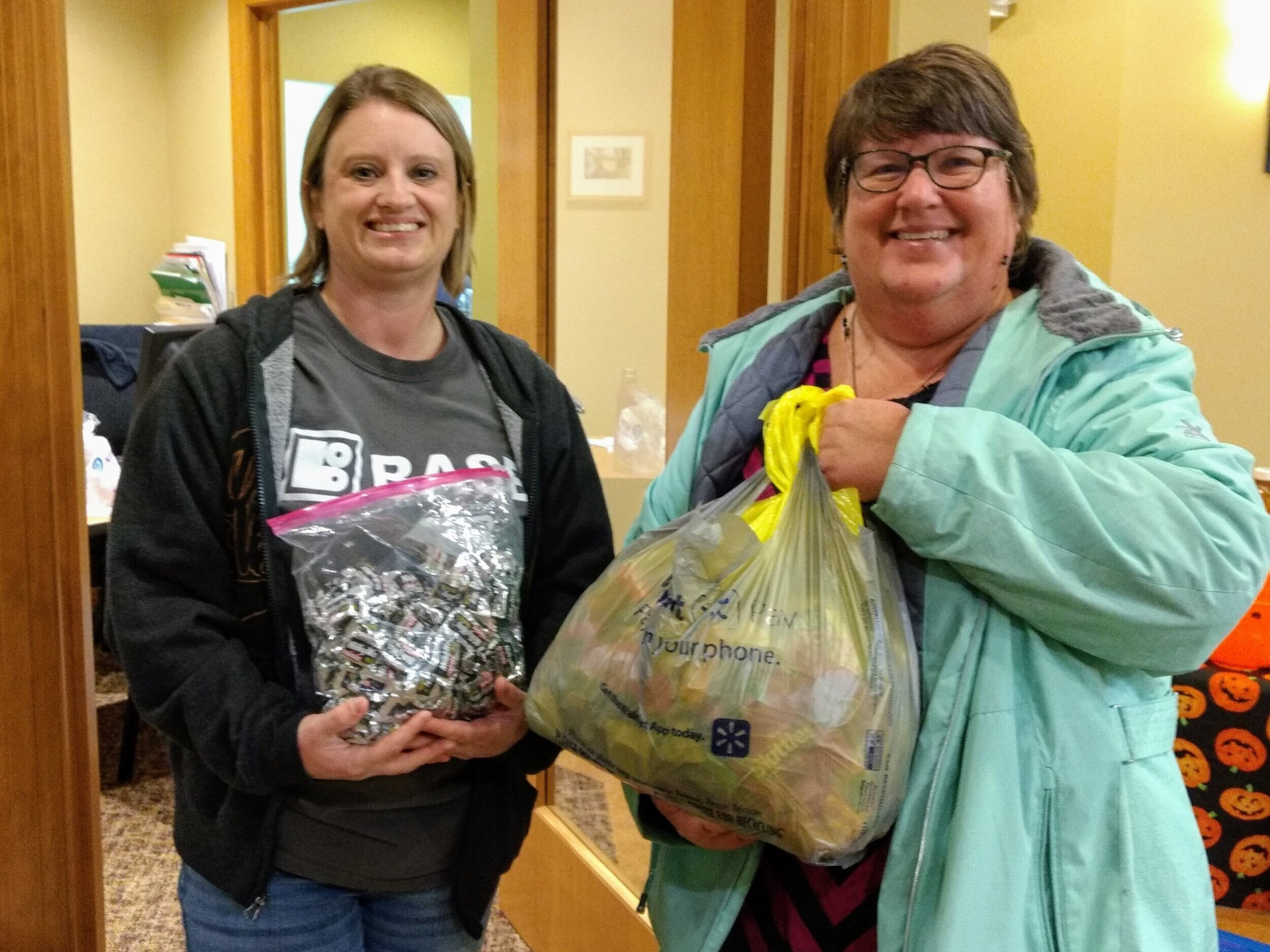 Project Reflection - BASE sites collected a total of 12.1 pounds of candy and Ms Melissa and Ms Beth delivered the candy to Rock River Dental on Monday, November 4th, 2019