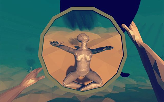 "We're excited to show new work by artist Aaron Oldenburg at the #ieeegem2019 conference on June 19! ""Desert Mothers"" is a hallucinatory multiplayer VR experience in a procedurally-generated desert environment that responds emotionally to each player's individual actions. . . . #placemaking #worldbuilding #causeandeffect #hallucination #VR #newmedia #interactive #gamedesign #immersiveart #multiplayer #curatedexhibition @yaleblendedreality @yale @ieeeorg"
