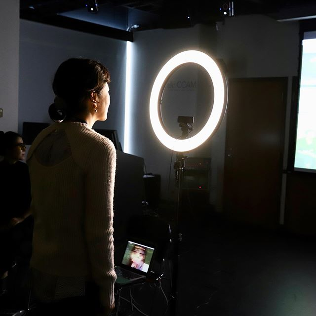 "The boundaries between artist and audience// individual and collective// watcher and watched were blurred during Cecilia Suhr's interactive performance at the GEM 2019 Conference at Yale CCAM yesterday evening. Her project ""I, You, We"" overlays mirror images of participants captured in real time using a surveillance camera, with the intention of expanding the concept of ""me versus you"" into a collective ""we."" Cecilia Suhr is an award winning interdisciplinary artist and researcher, multi-instrumentalist (violin/cello/voice/piano), author, performer, and improviser, who works at the intersection between art, music, sound design, and digital technology. . . . #sensingtechnologies #surveillance #performance #installation #interactiveart #research #media #curatedexhibition #ieeegem2019 #gem2019 @yaleccam @yaleblendedreality @yale @ieeeorg"