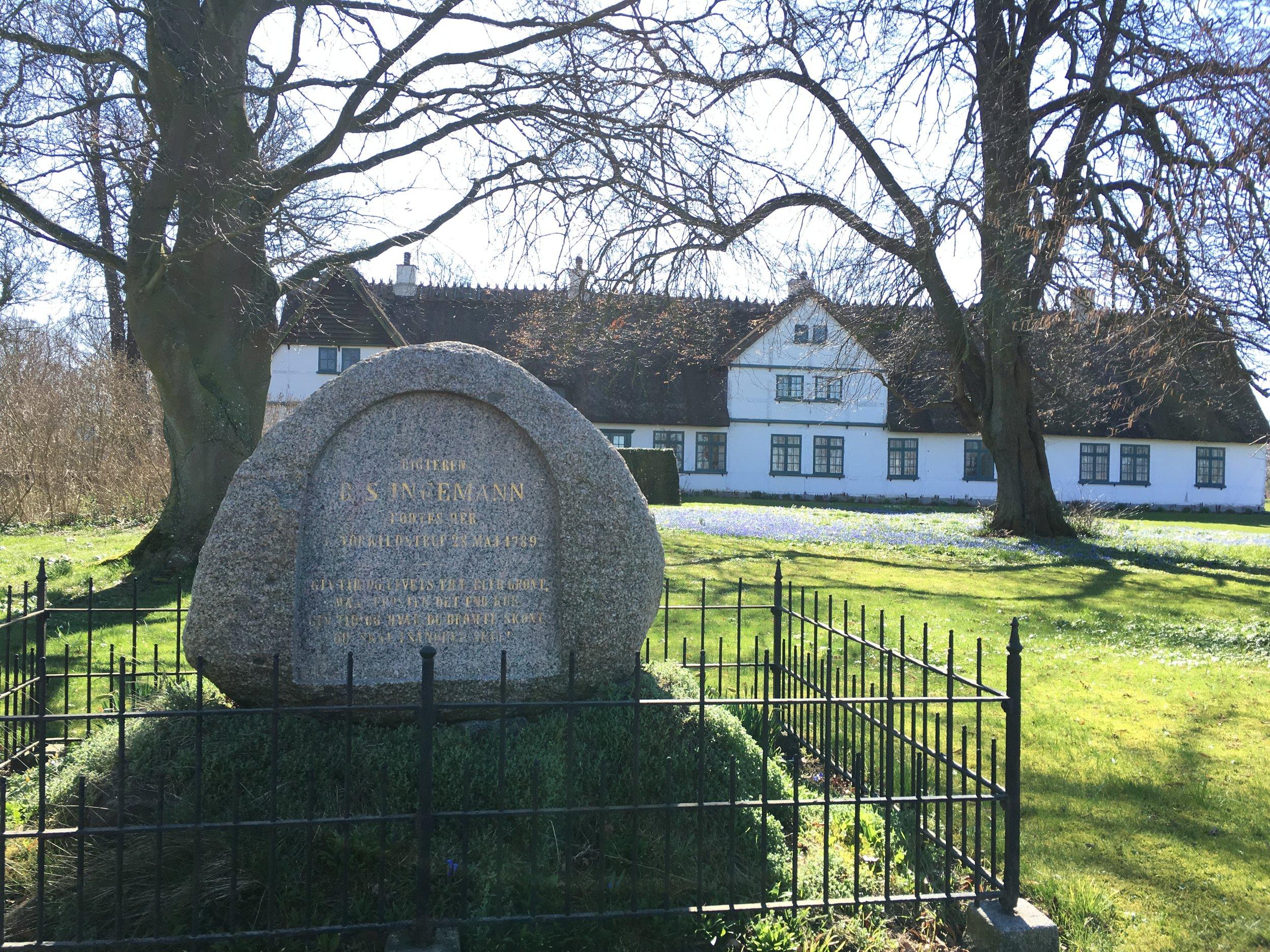 Torkildstrup Præstegård, hvor B.S. Ingemann var præst og skrev mange af sine smukke digte.