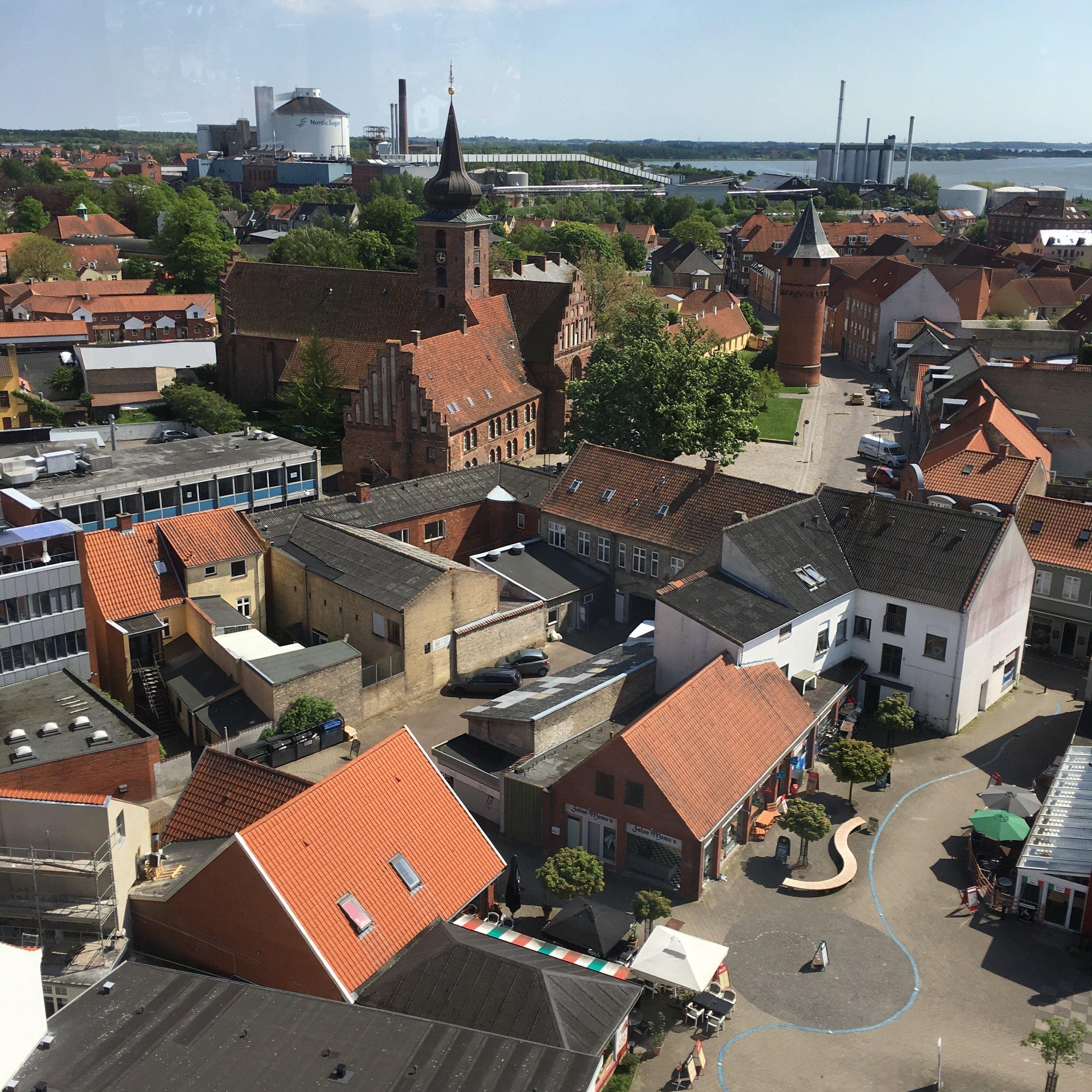 Udsigt fra Vandtårnet i Nykøbing F