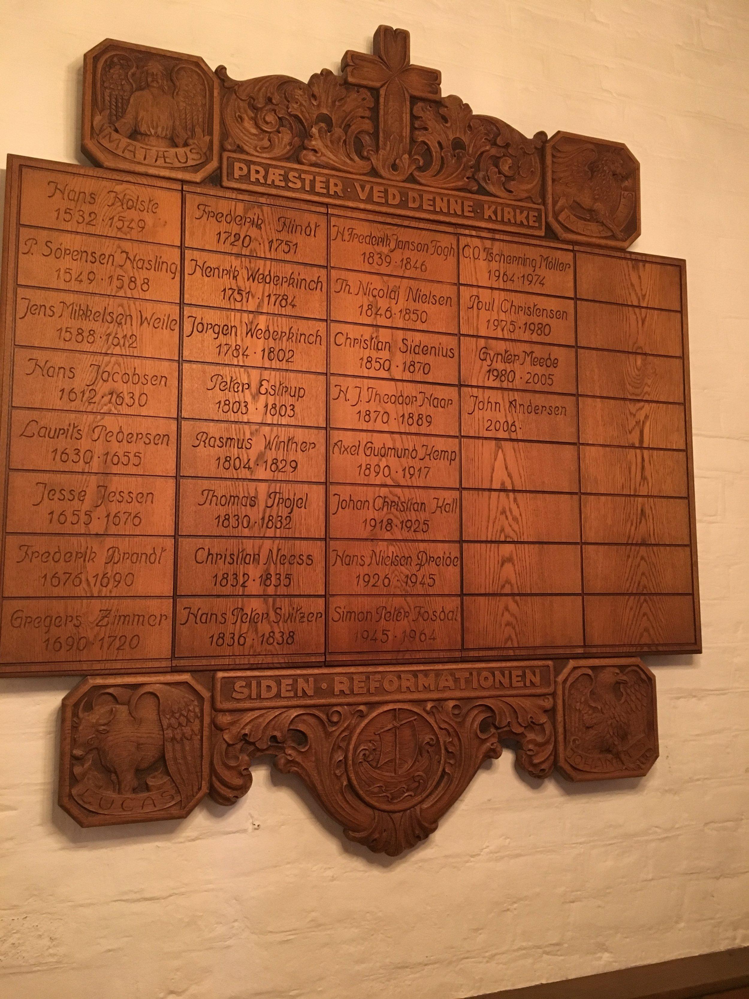 Detalje fra Klosterkirken, Nykøbing F