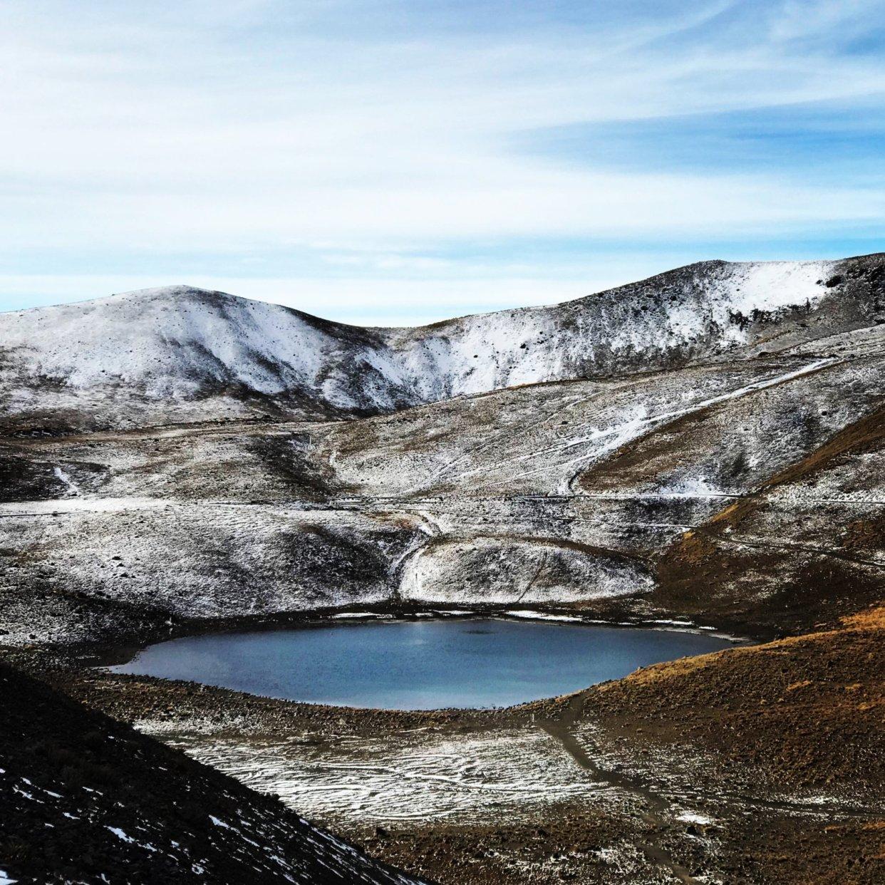 A photograph we captured hiking a volcano near CDMX