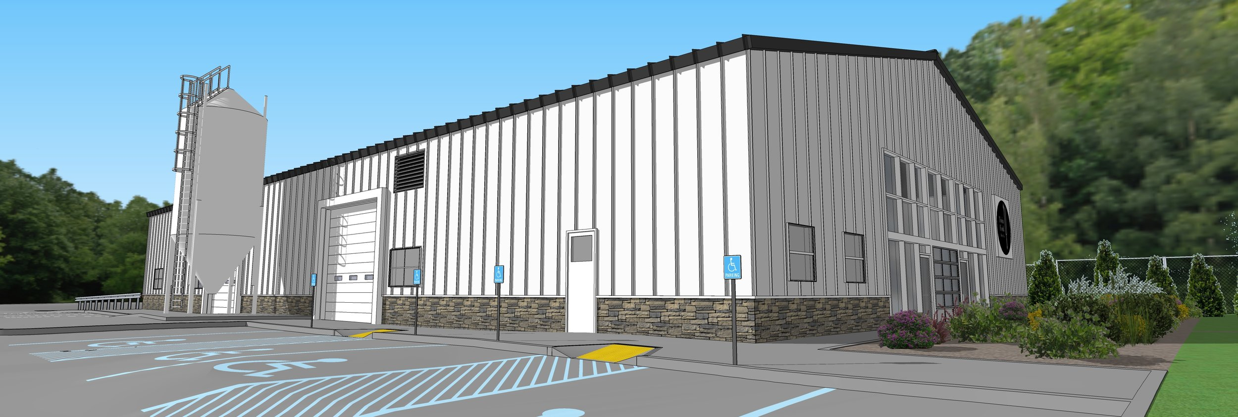 3D Rendering of our Brewery and Tasting Room on Raynor Avenue Riverhead