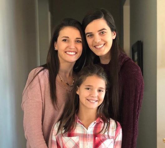 My children: Caroline, Ellie and Carly