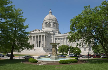 Missouri State capital, Jefferson City, missouri