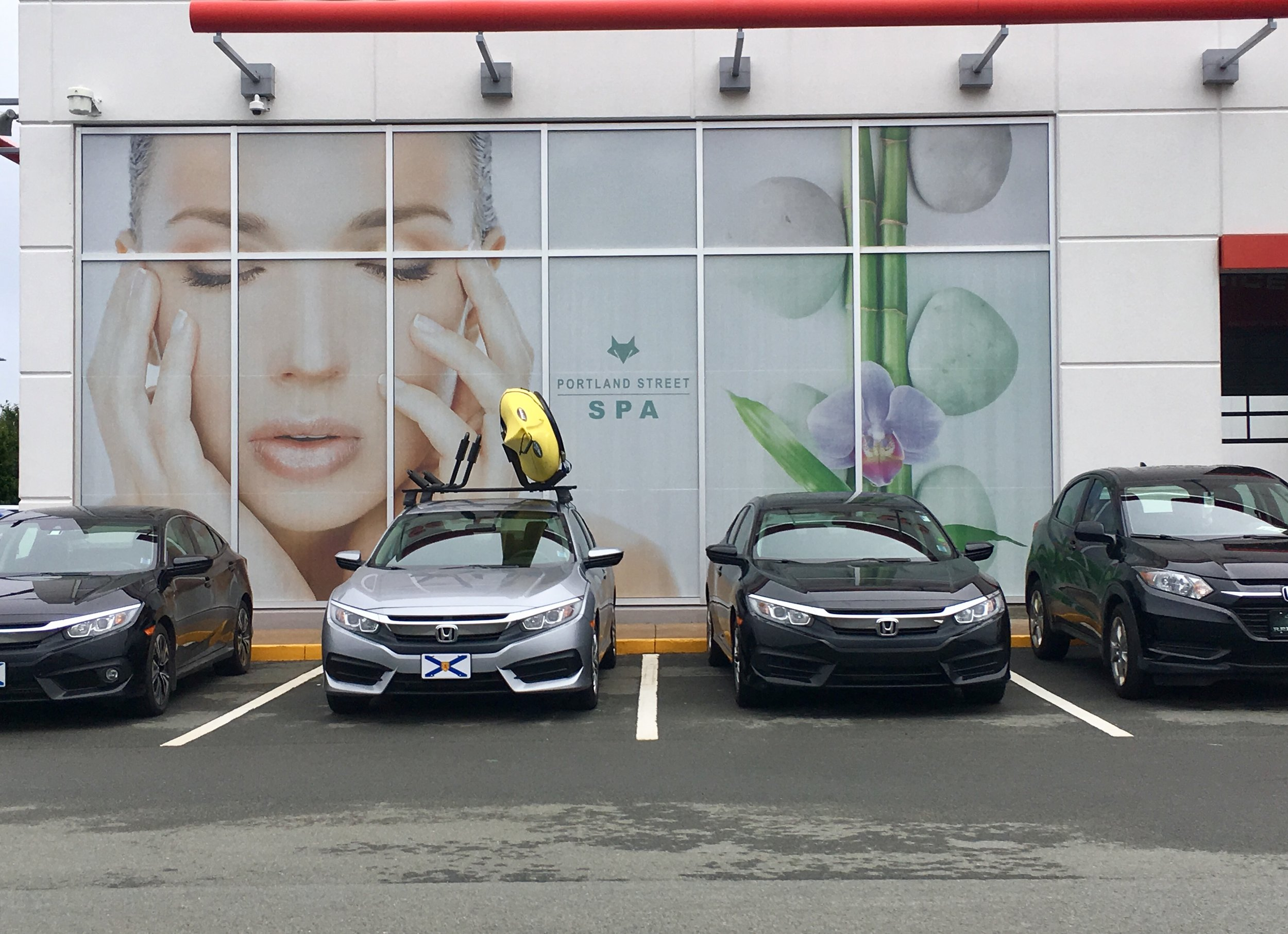Outside Portland Street Spa at Portland Street Honda in Dartmouth