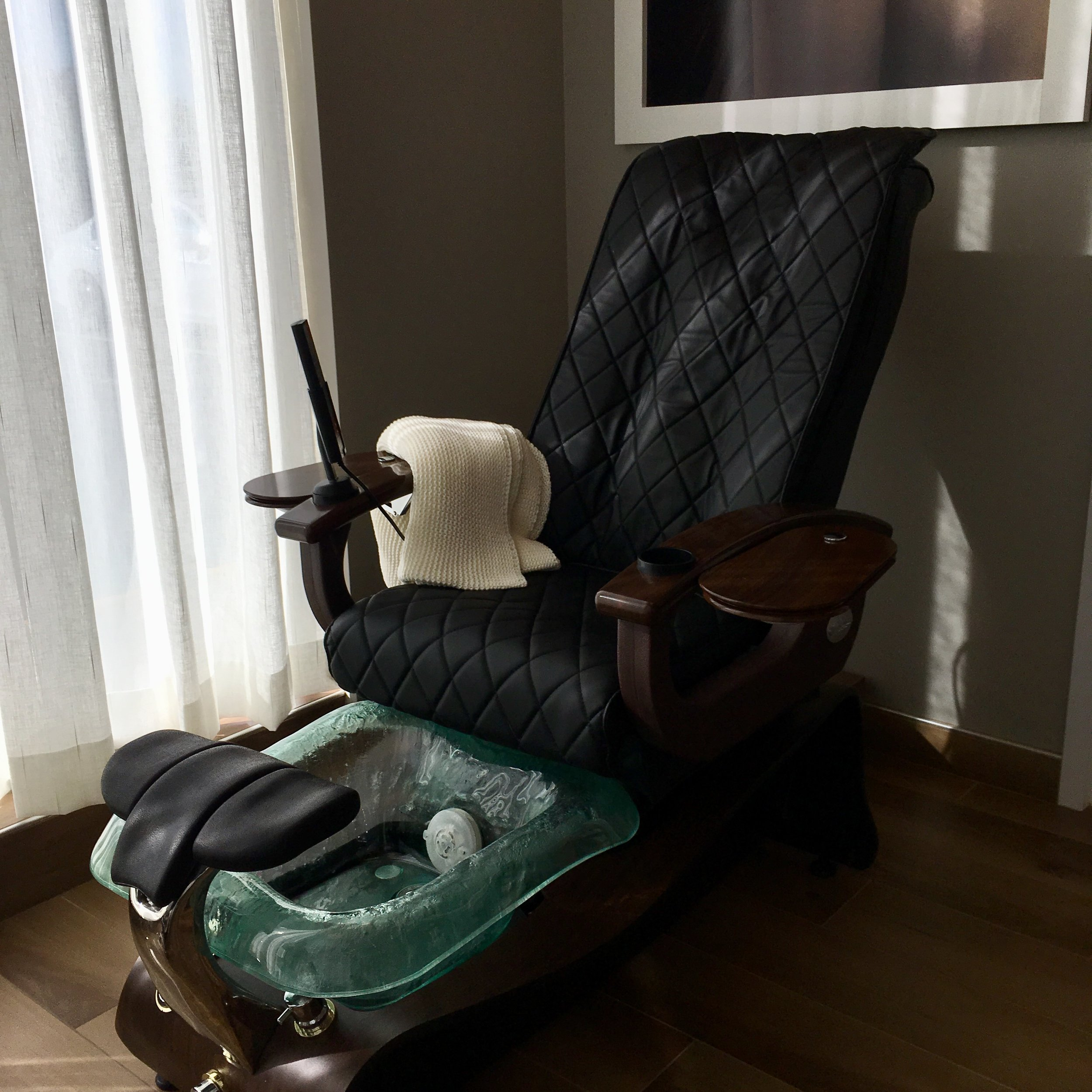 Massage and Pedicure chair at Portland Street Spa