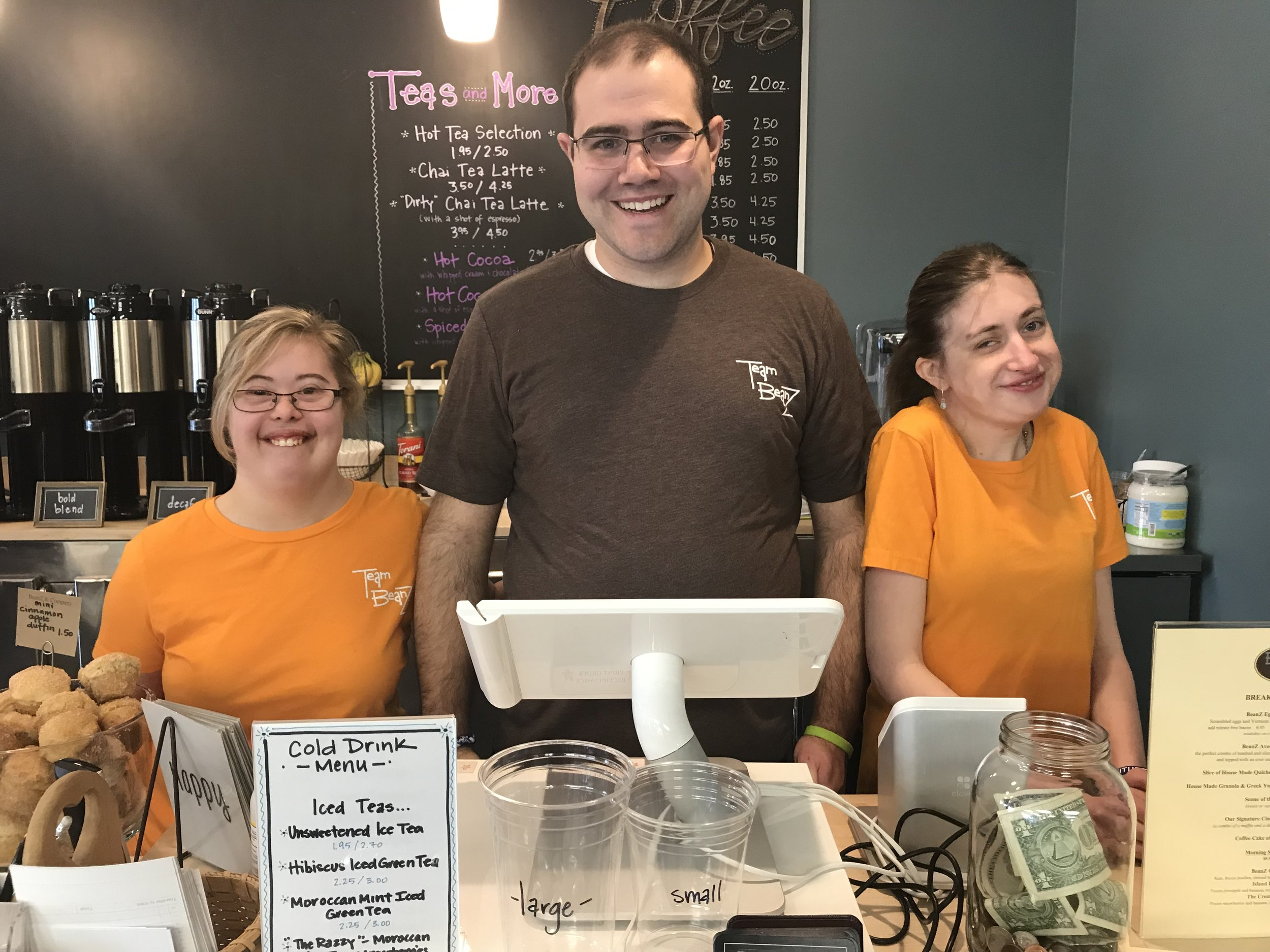 From Left to Right: Jess Sahlman, Nick Sinacori and Lauren Traceski part of the Team BeanZ lunch crew.
