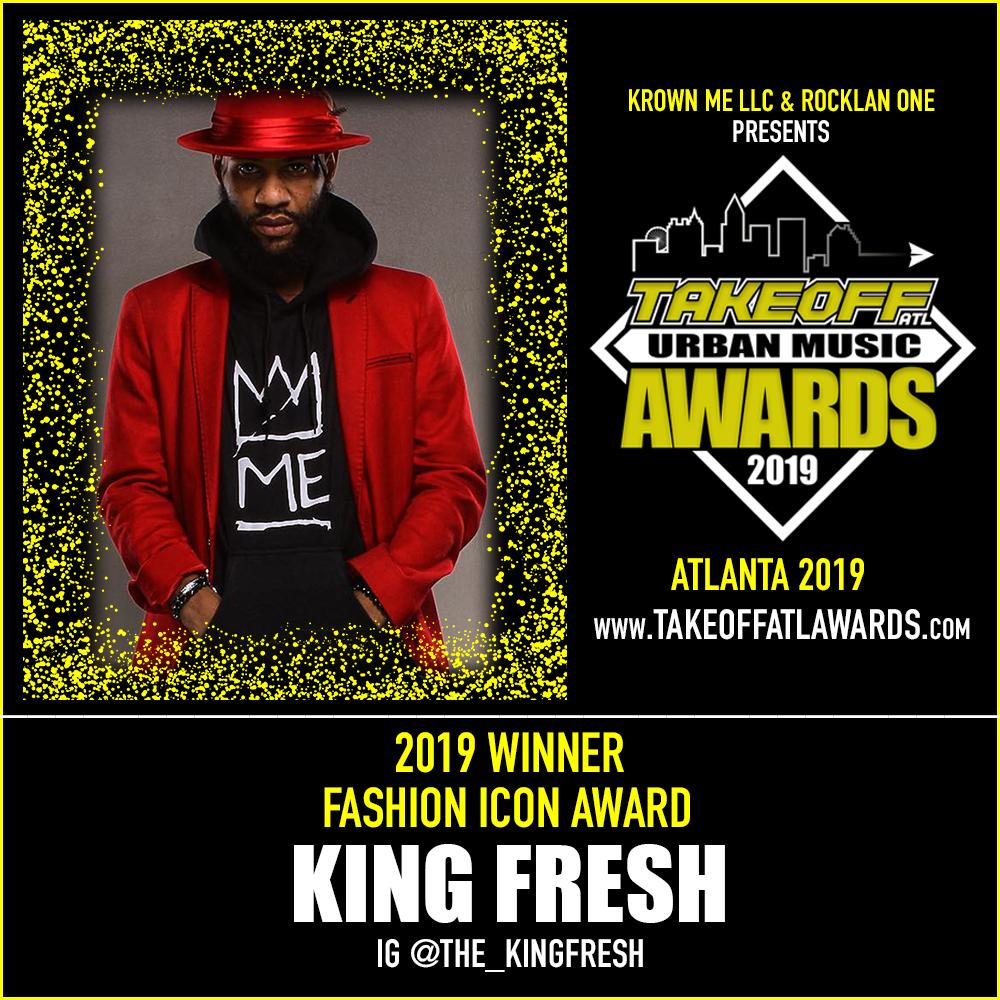 2019 WINNER - FASHION ICON AWARD - KING FRESH