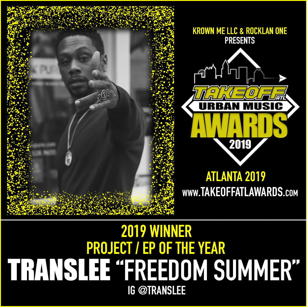 """2019 WINNER - PROJECT / EP OF THE YEAR - TRANSLEE """"FREEDOM SUMMER"""""""