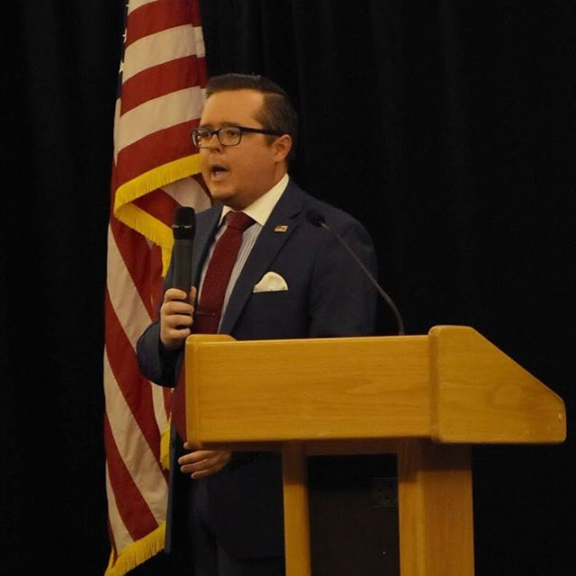 """We will win 2020"" @harlan.hill at DFAS 2019.  #dfas #gop #trump #2a"