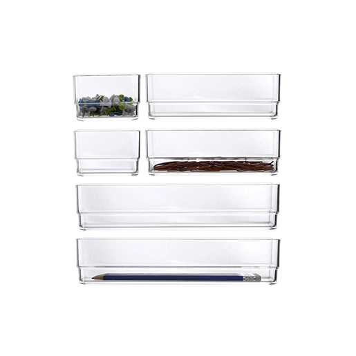 Drawer Organizers/Dividers - Every single drawer in my house has some sort of organizer in it! I'm a little too obsessed with making sure every one is neat & easy to navigate. I use the ones above & THESE clear plastic ones in shallow drawers, and THESE in deeper bedroom drawers.