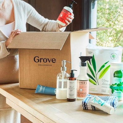 I recently discovered  Grove Collaborative , they are an online shop for household cleaning essentials & they are amazing! They only offer non-toxic & cruelty free brands like Meyers, Seventh Generation, Method, etc. You can set up a subscription to get items delivered to your door depending on how often you need them! You get SO much for your money, & they always have deals and you get a ton of free add-ons. This mama right here is seriously obsessed!