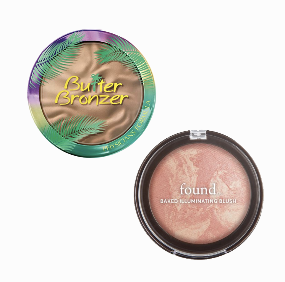 I love bringing back that bronzed glow in the Spring! This bronzer-blush combo is my current fave! This  bronzer by Physicians Formula  is so smooth & subtle, plus it smells like an actual tropical paradise. And I'm typically not a huge blush-wearer, but  this one by Found  in the shade Peach Glow has a lovely sun-kissed glow to it that looks very subtle & natural. And they are both under $10 — WIN!