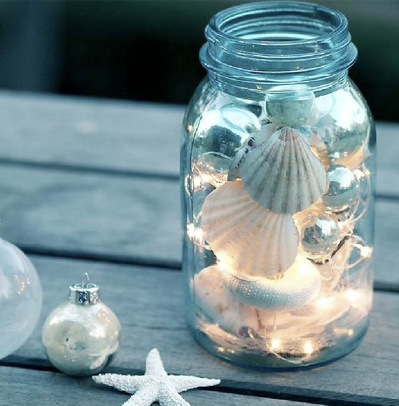Display Jars - I love to fill mason jars with pretty much anything and just display them on counters and shelves. It can be functional, like for pens on your desk. Or it can just be pretty, like to display seashells or sea glass on a shelf.