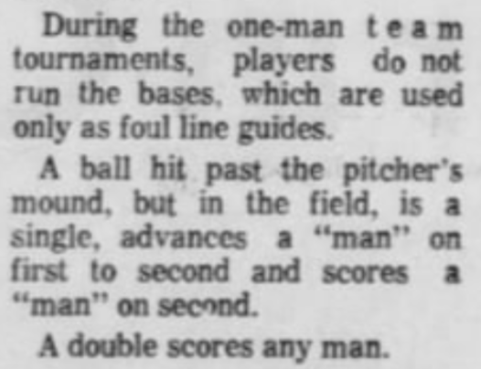 Gelman, B. (1968, July 28). This is Baseball? Kids Like It.  Southern Illinoisan . Pg. 8.