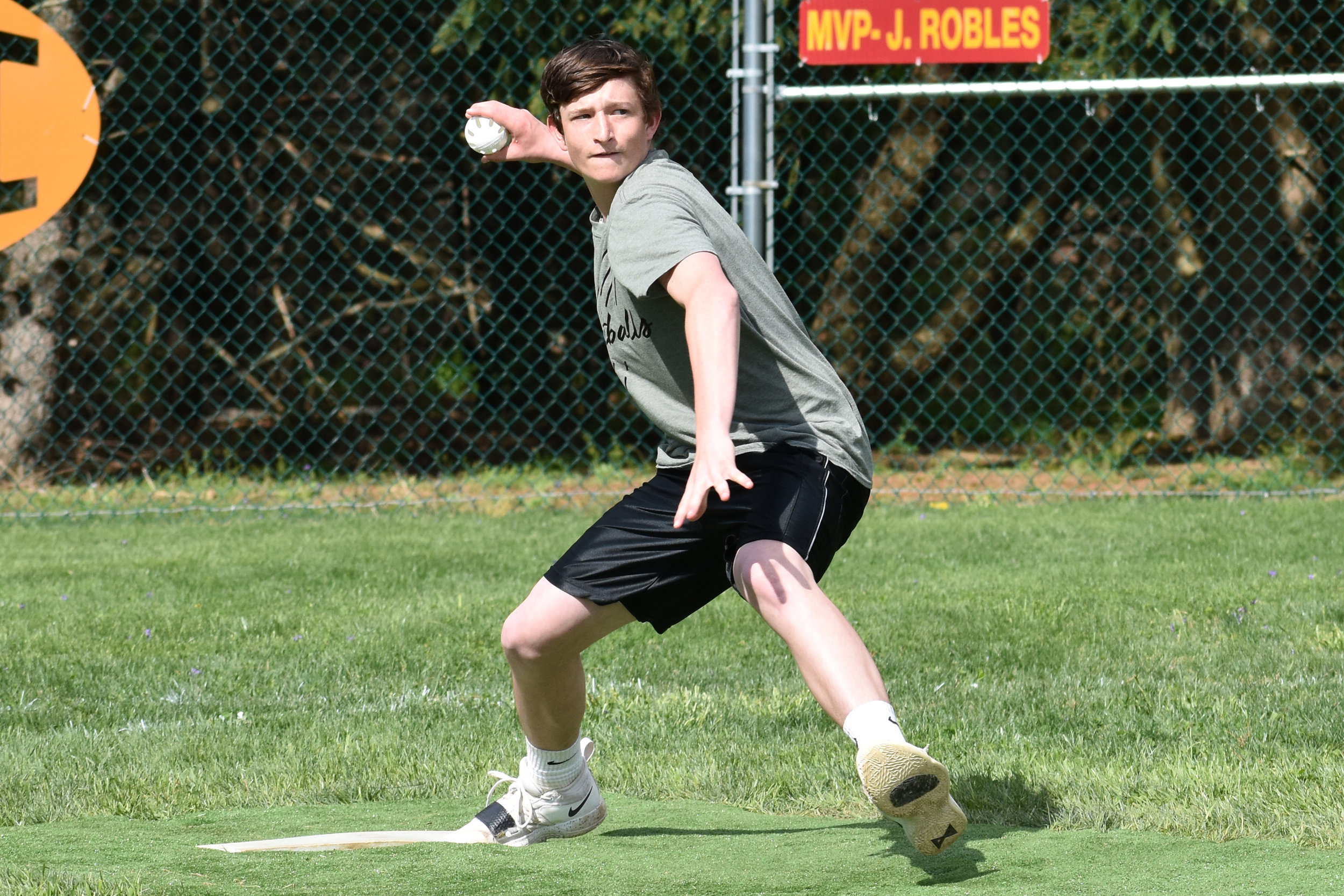 Frankie Campanile was a major factor in the Shortballs' run to the tournament title game. (April 20, 2019)