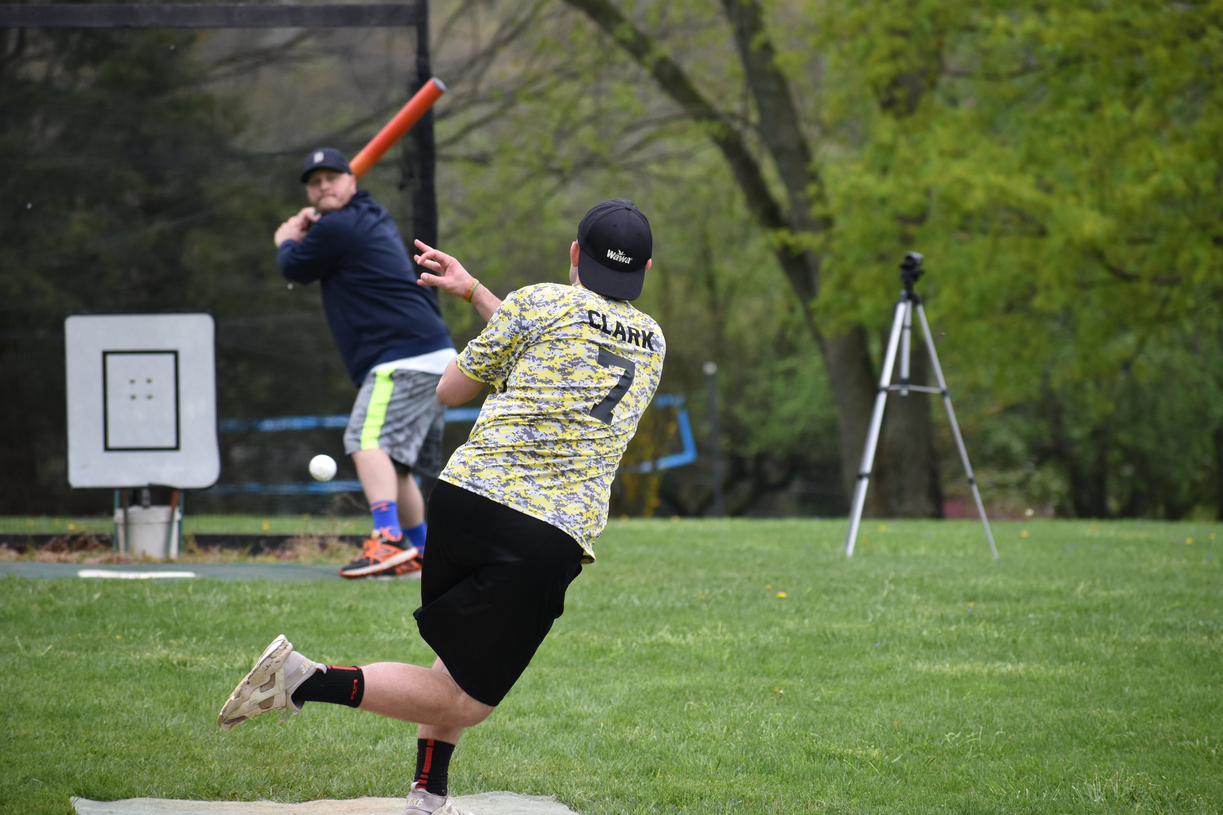 Dave Clark of the Lemon Heads delivers a pitch to Jared Laird. In conjunction with the Lemon Heads, MAW comes to Jackson, NJ on May 18th for the second tournament of the season. (April 20, 2019)