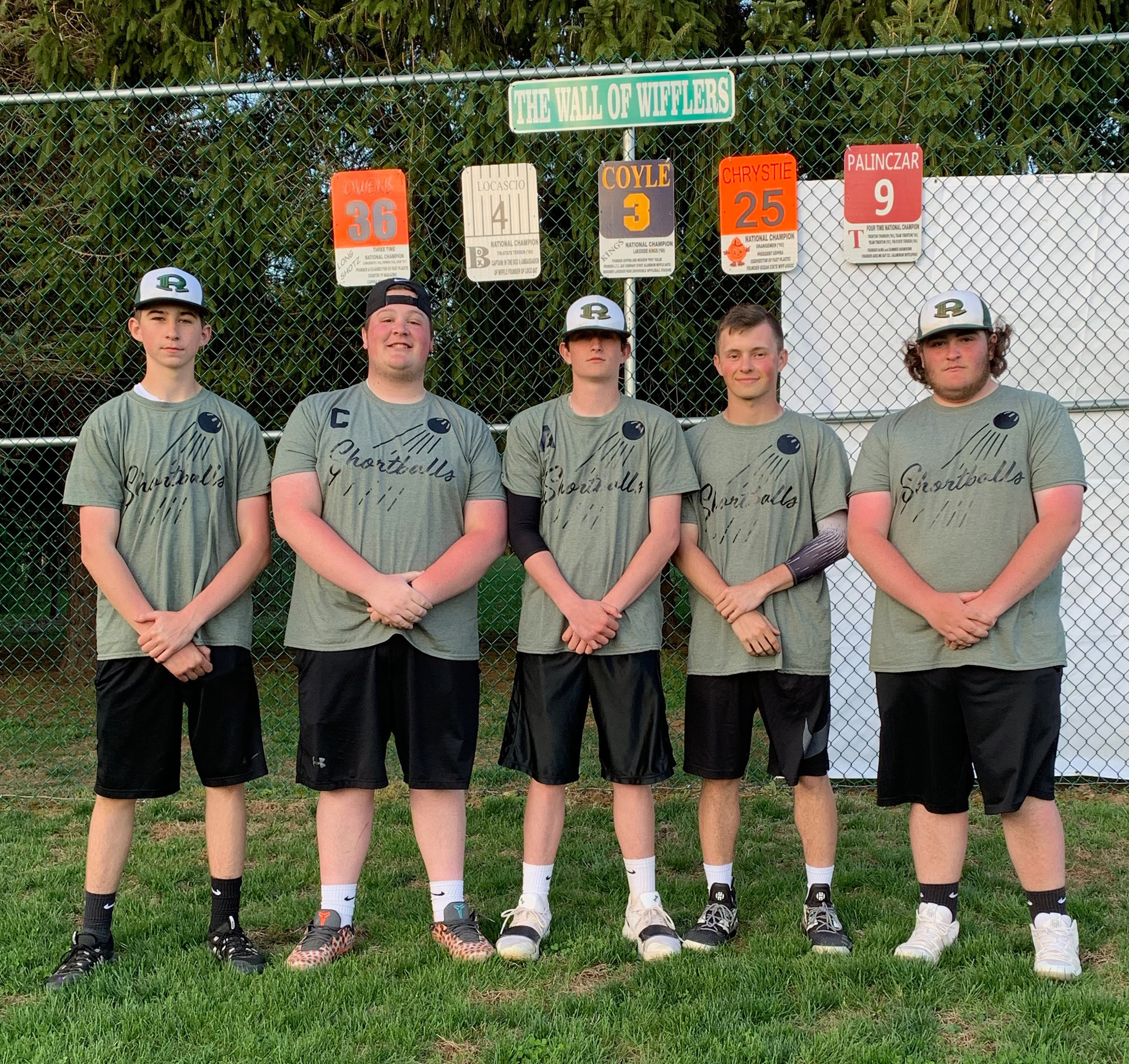 Shortballs (r-l: Teddy Drecher, Joey VanHouten, Frankie Campanile, Nate Smith, Vinny Albanese (April 20, 2019)