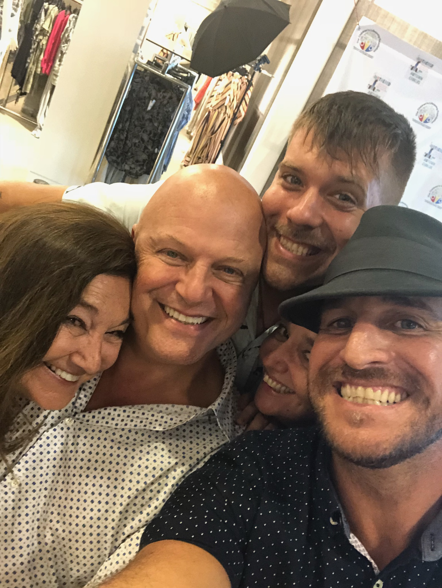 CLF Founder Maria D'Angelowith Emmy & Golden Globe winning actor & musician Michael Chiklis & CLF Staff at the Bloomingdale's Book Launch Party for writer Autumn Chiklis, benefiting CLF.