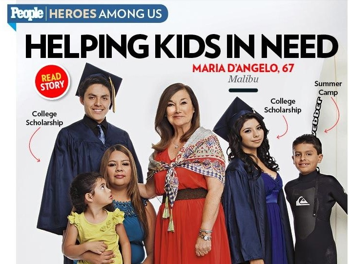 CLF Founder Maria D'Angelo & CLF Vita Network kids in  People Magazine!