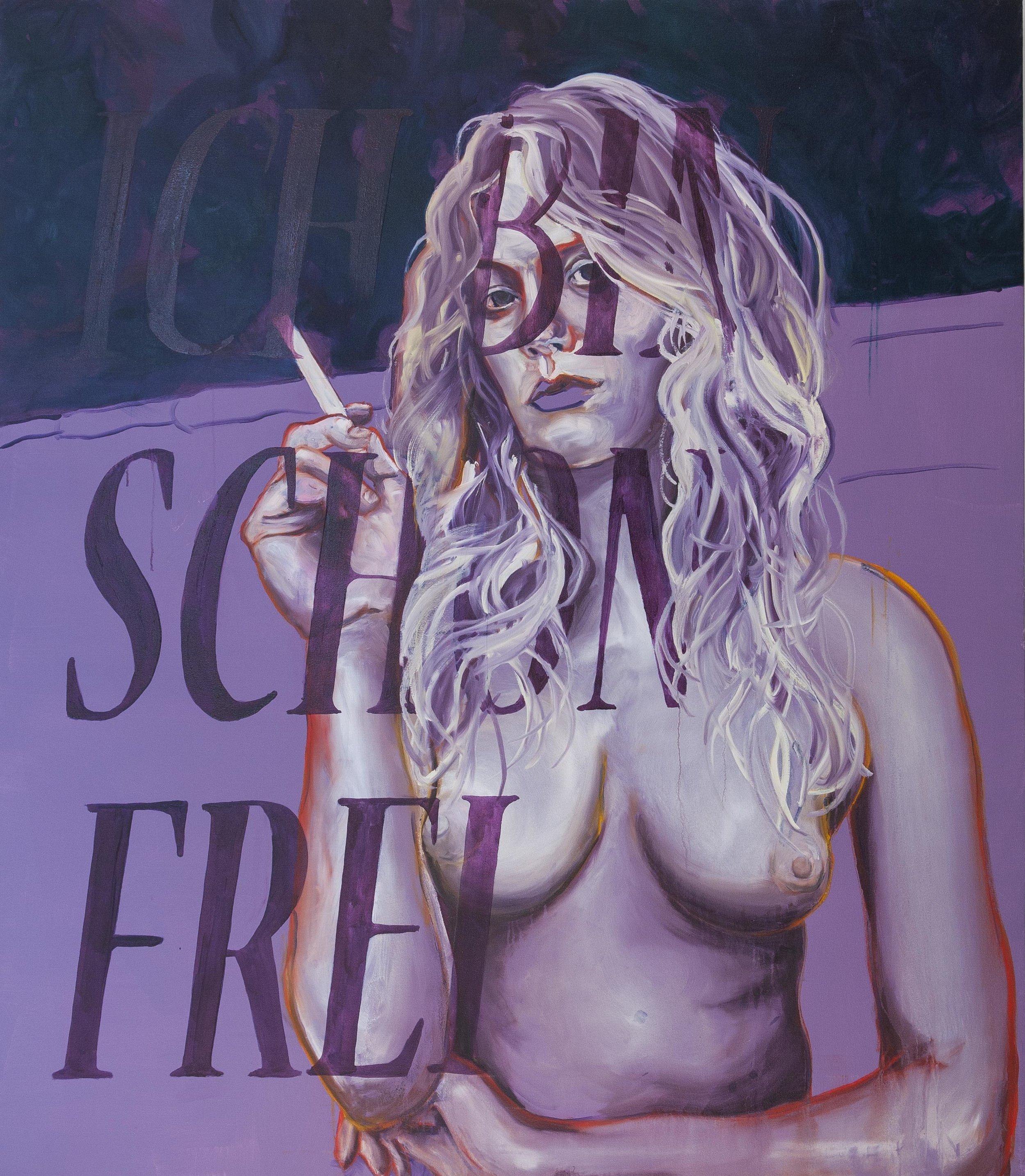 Ich Bin Schon Frei , 2013  Oil on linen, 150x120cm