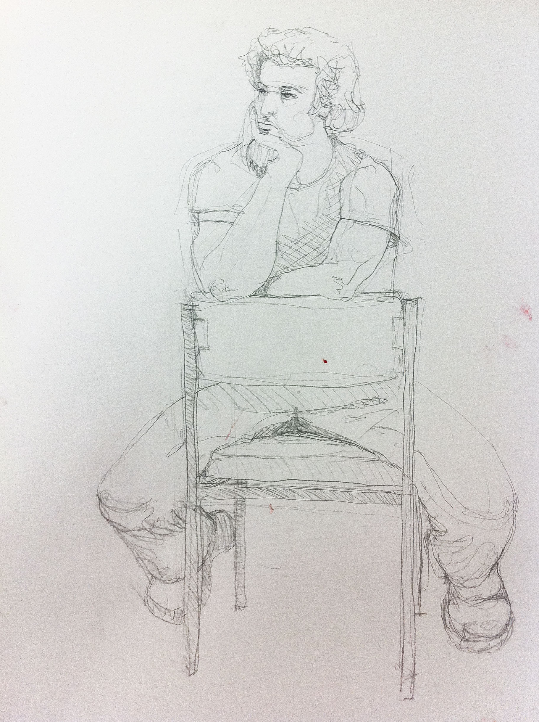 One of my life studies while at art college