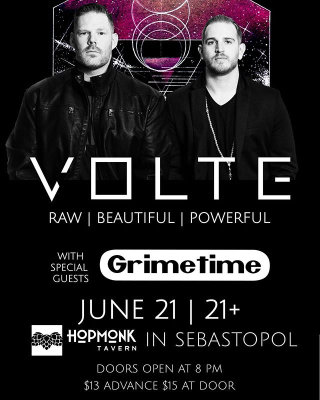 SHOWS THIS WEEKEND!!! Friday at @hopmonksebastopol and Saturday at @ukiahbrewingco with @grimetimeukiah ! Come see us live! #volte #rock #grimetime #punk