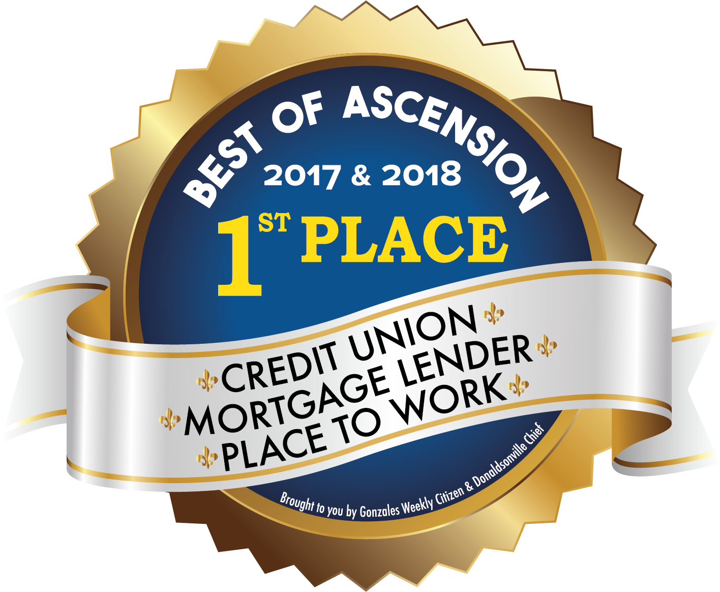 Best of Ascension 2017 and 2018 1st Place Award