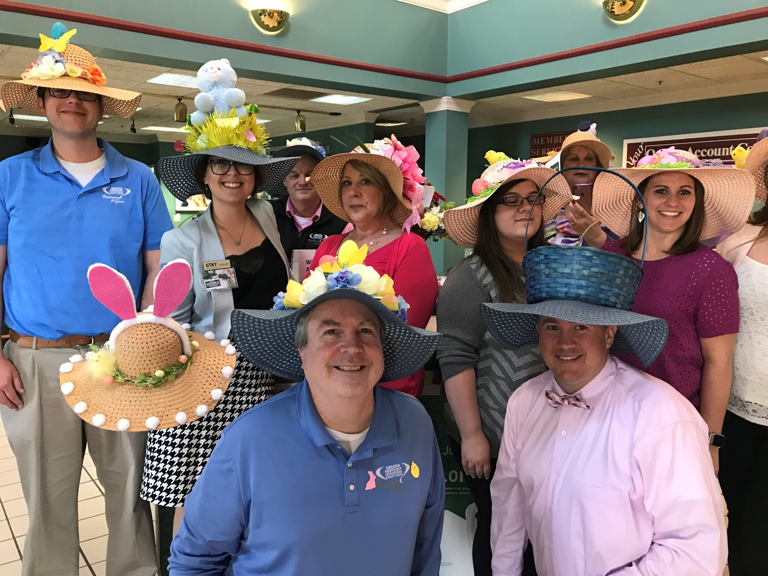Staff Easter Hats