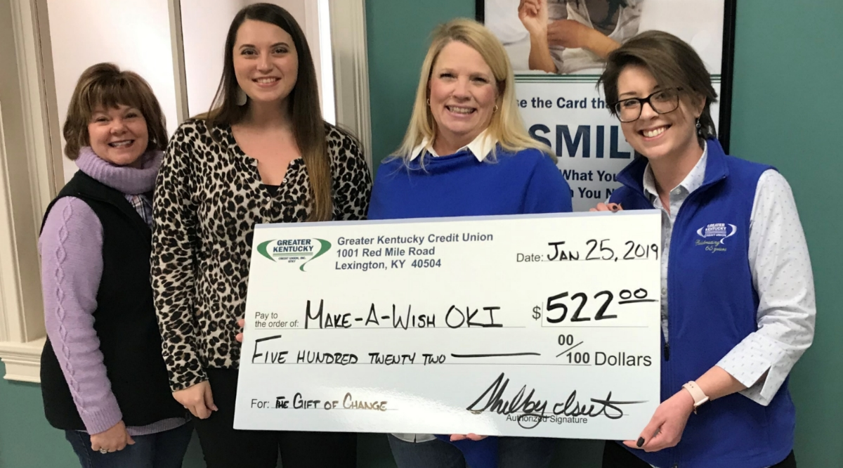 Check presentation to Make-A-Wish