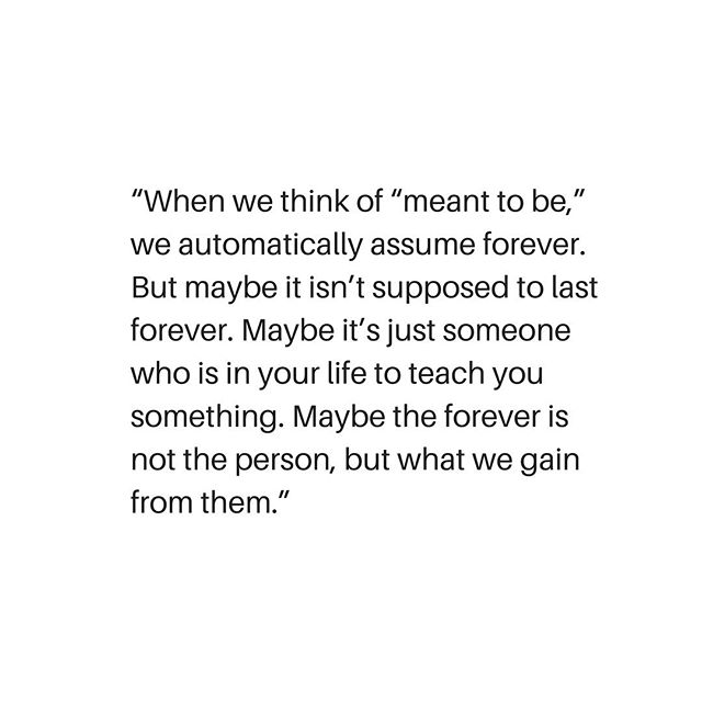 so. many. forevers