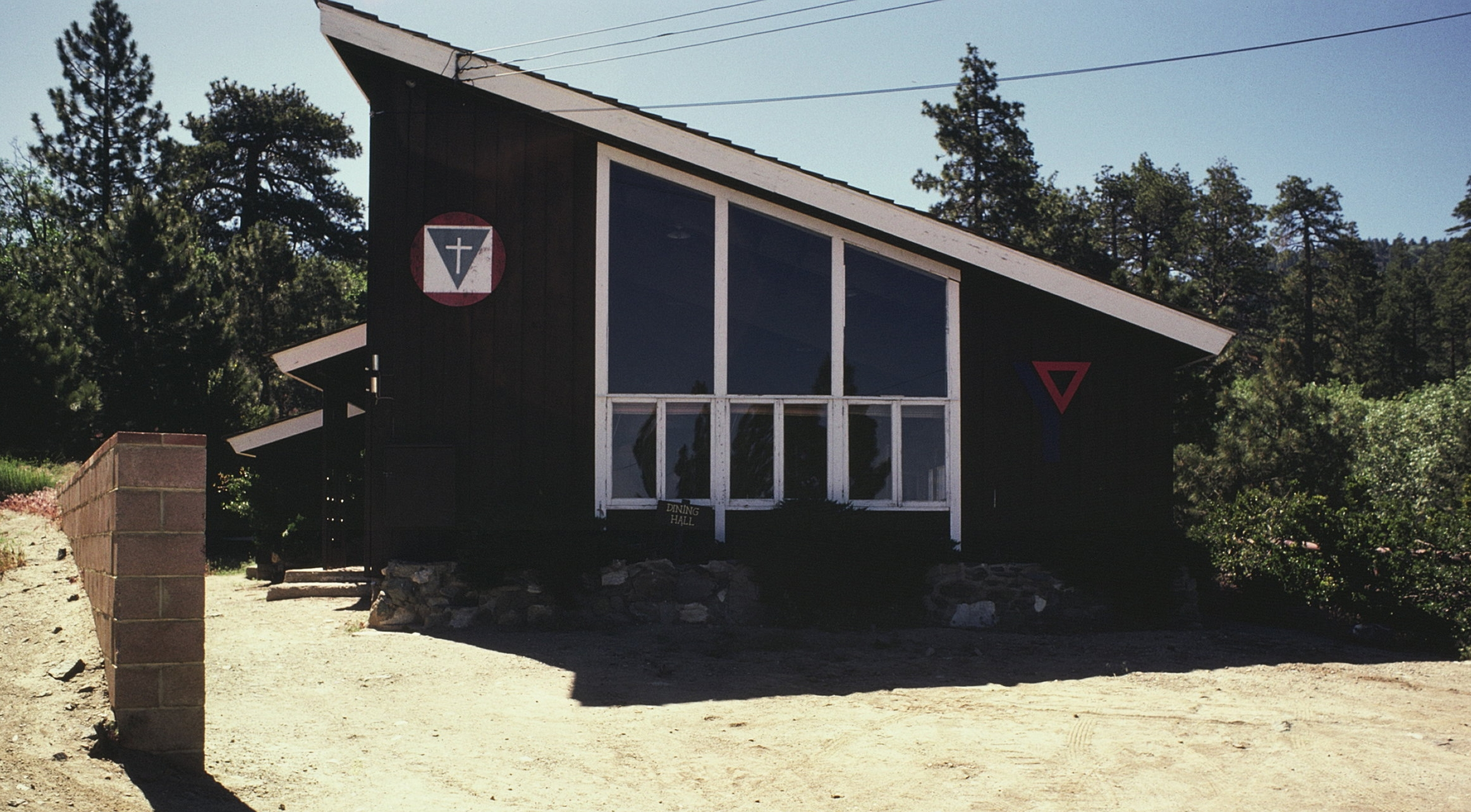 The YMCA Big Pines Lodge during 1977-1978 prior to renovations for AYF Camp Big Pines