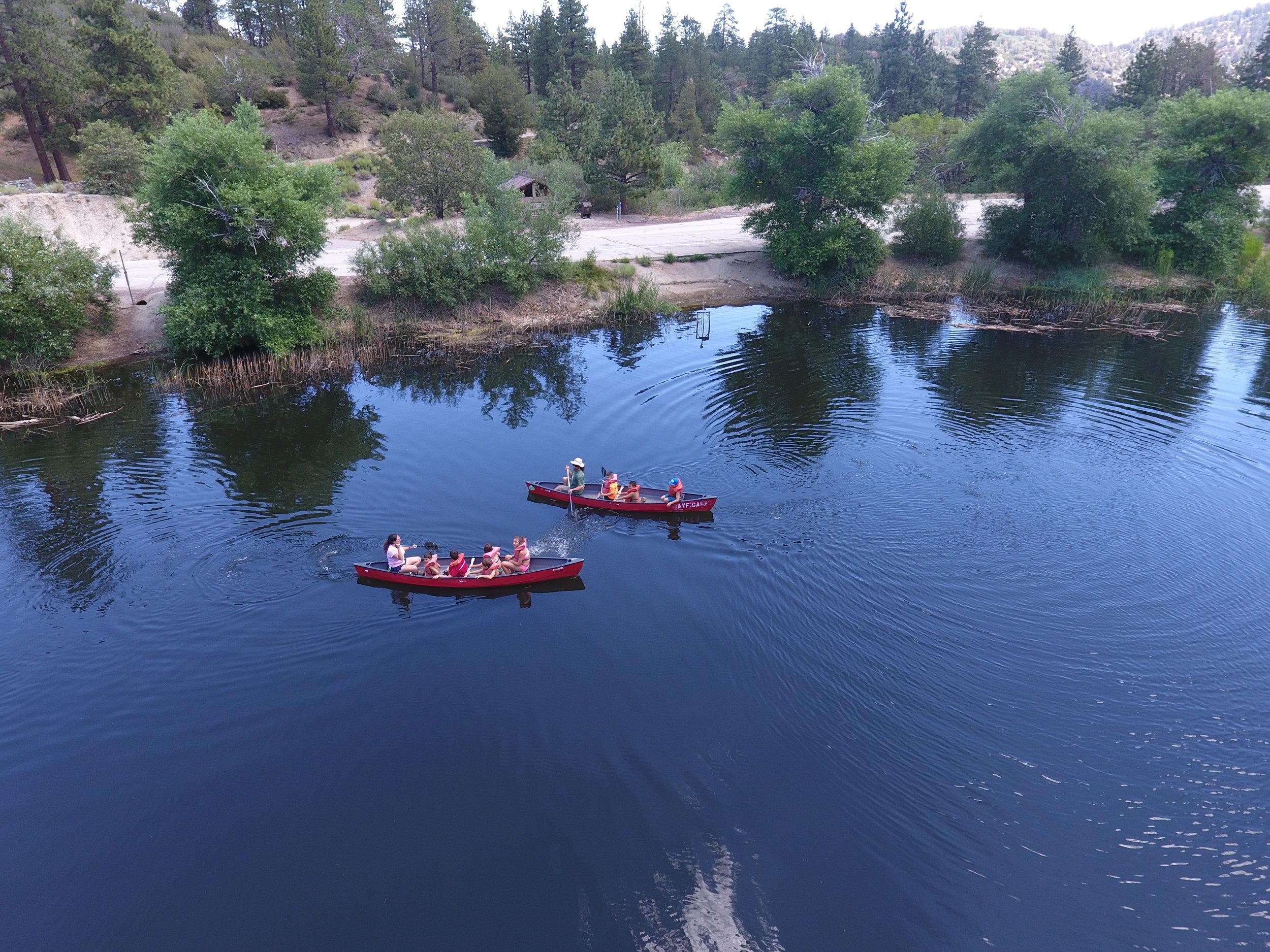 canoeing -