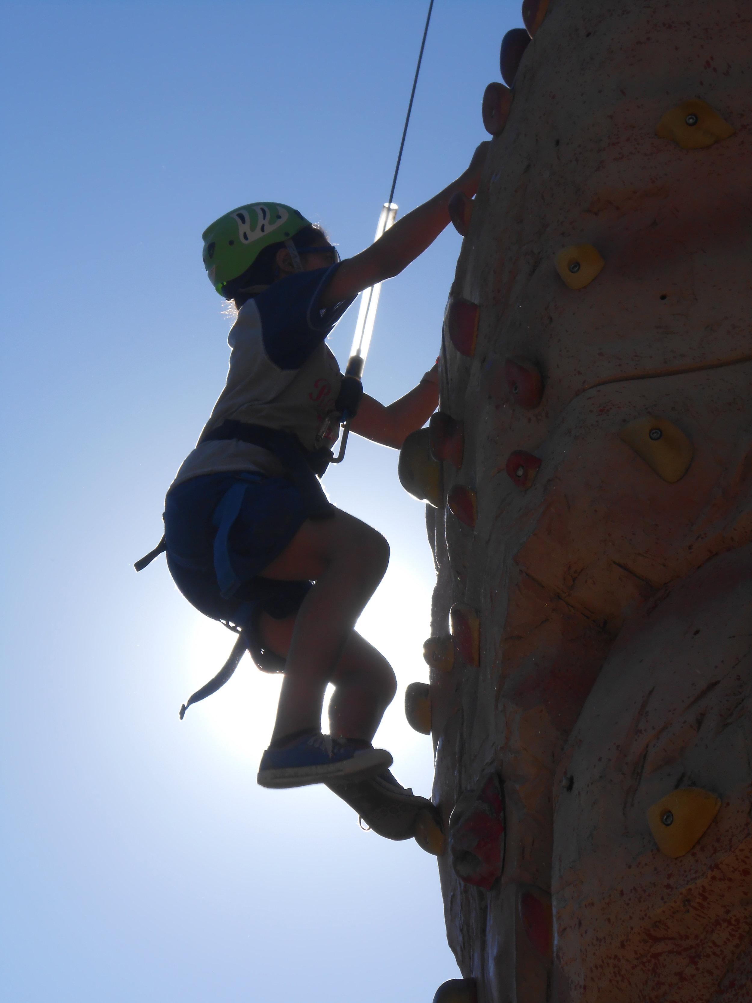 rock climbing -