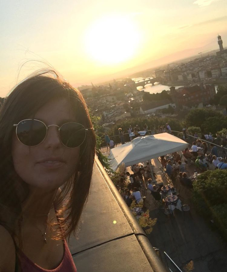 sunset selfies from Piazzale Michelangelo