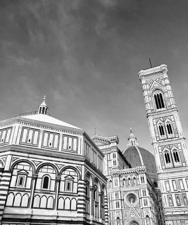 Fire, Duomo Square - with Battistero - Cupola del Brunelleschi and Campanile di Giotto
