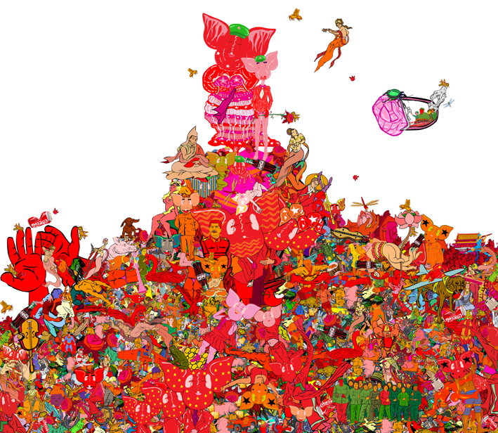 Li Shigong-A God Blessed Year-Digital Print-46x40cm-2007-CM2 Space.jpg
