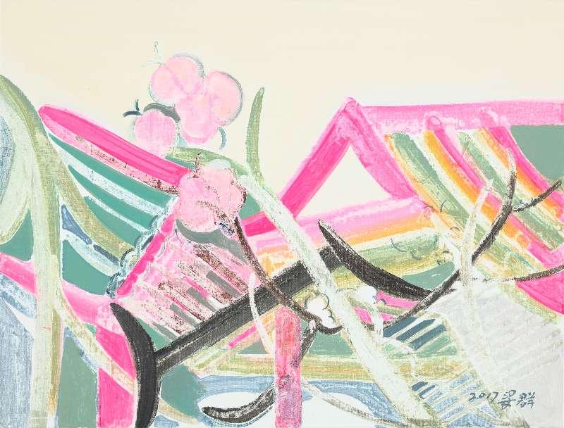 Liang Quan, Spring Flower series-1, Oil on Canvas, 30x40,2017.JPG