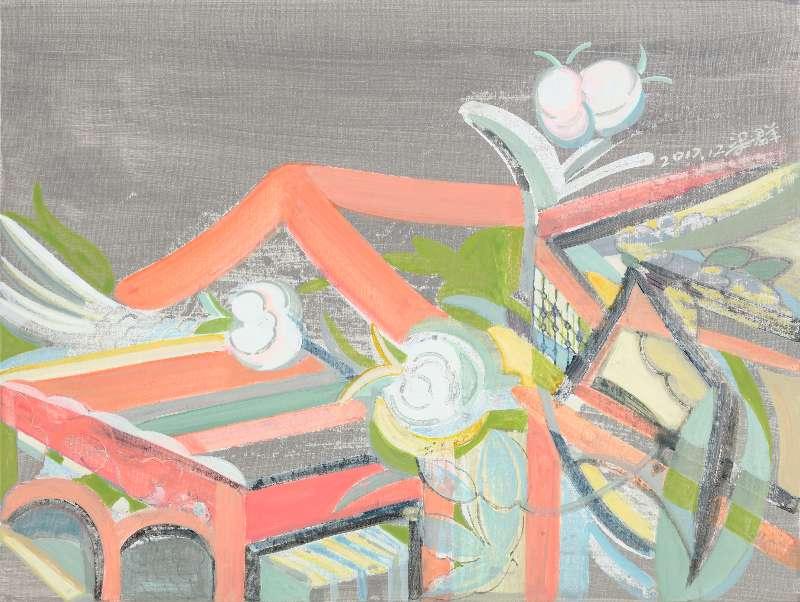 Liang Quan, Spring Flower series-2, Oil on Canvas, 30x40,2017.JPG